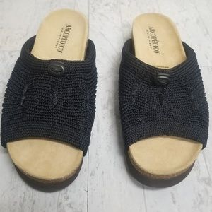 Arcopedico Shoes - Arcopedico black mesh cork sole mule/sandal sz 8